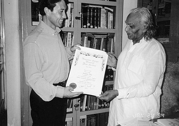 Receiving his senior certificate from B.K.S.